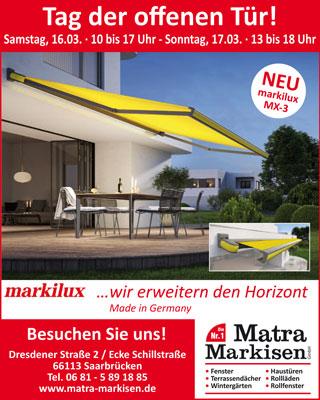 Matra Markisen GmbH Tag der offenen Tür 16. - 17.03.2019